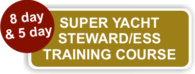 8 day and 5 day super yacht steward training course
